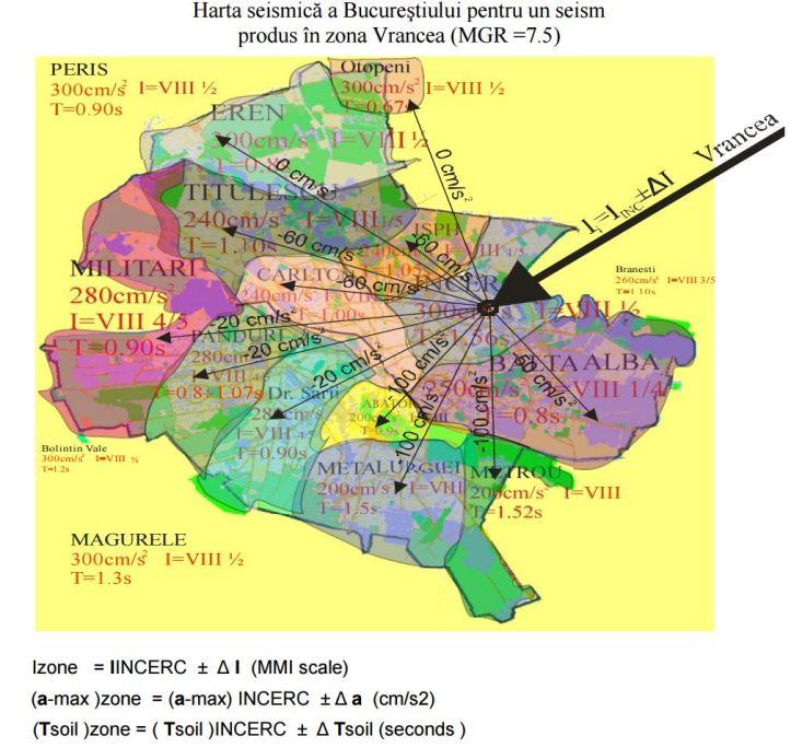 bucuresti - harta seismica