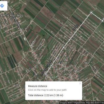 distante pana la ratb - 2.3km din camp canal via Ciulini - AC dat