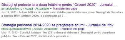 Orizont 2020 - strategia CJI pregatita din 2013