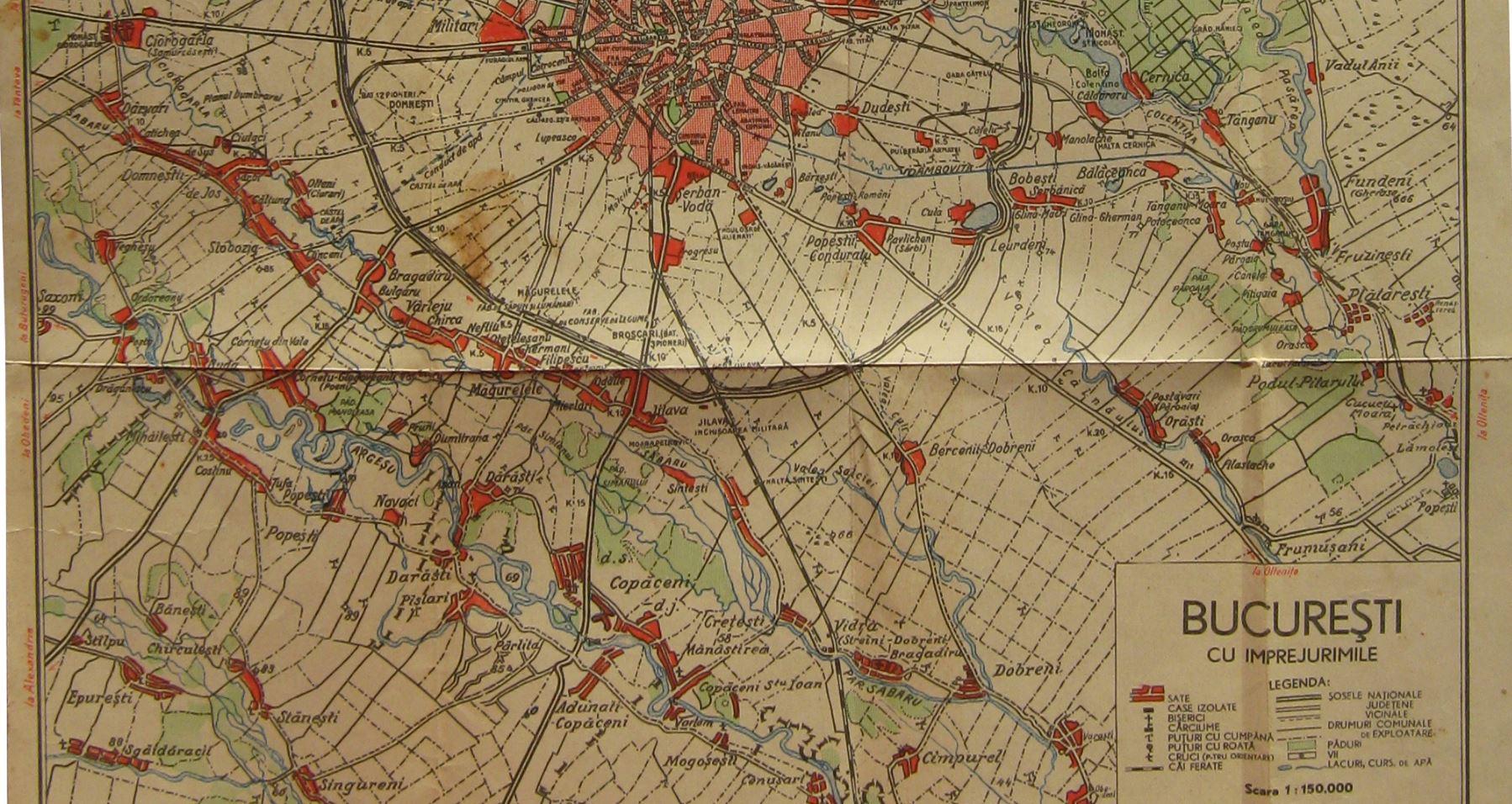 berceni - 1934 - drumuri comunale exploatare