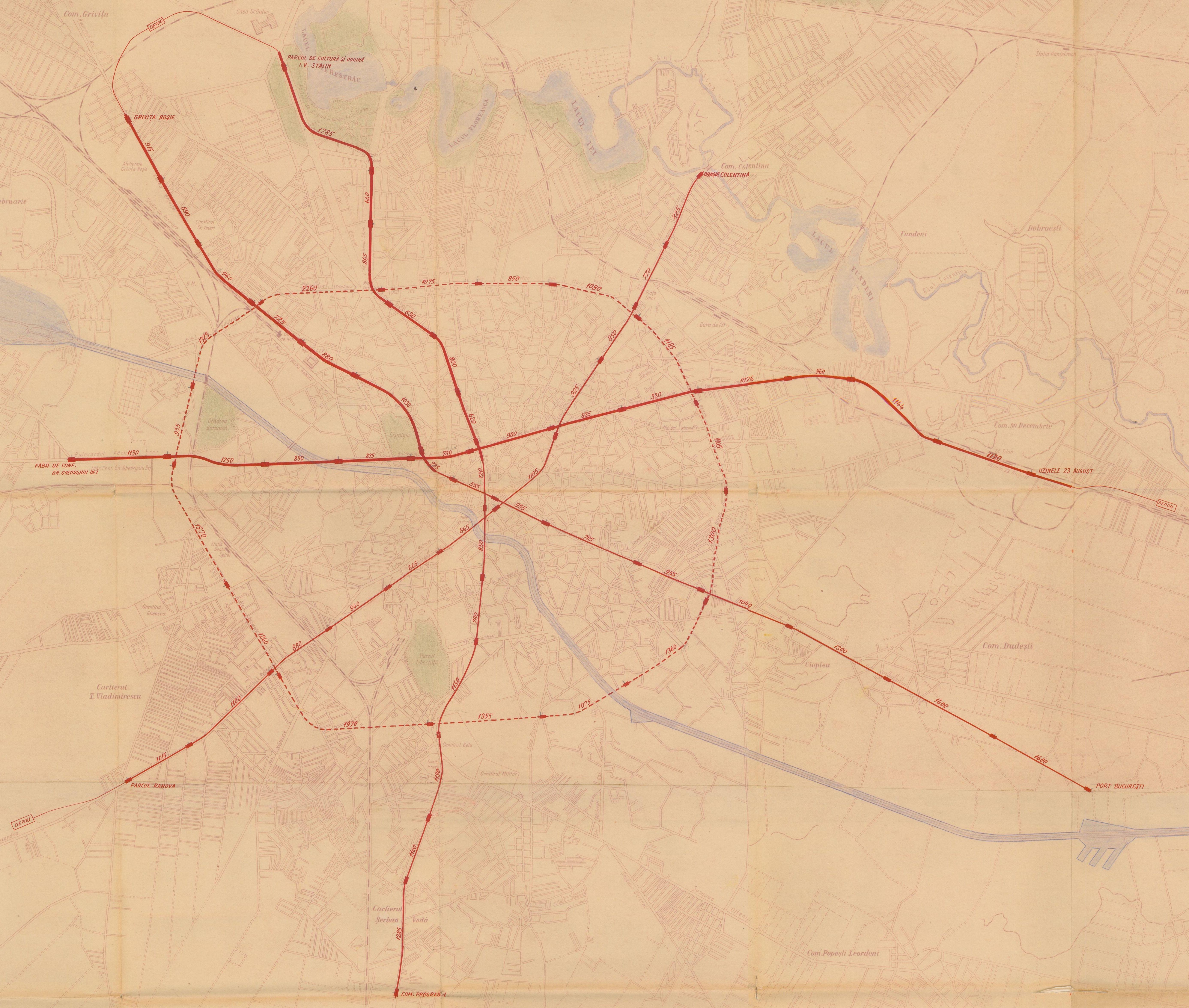 plan metrou 1953