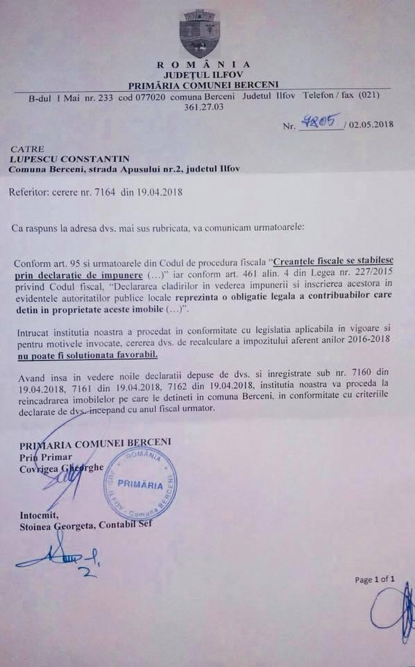 2018 05 08 - baza impozitare gresita - raspuns primarie - pt 2019