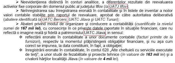 curtea ed conturi - 2013 - probleme CJI si Berceni