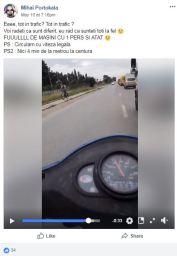 2018 05 10 - depasire coloana 6 - biciclistul o fi prost ca nu merge pe mijlocul soselei