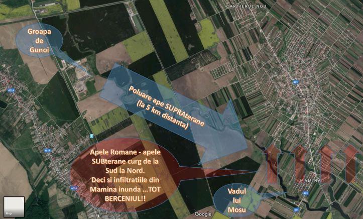 harta - directie poluare sub si supra terane