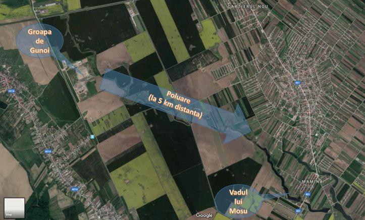 harta - directie poluare
