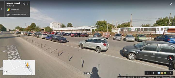 pasarela PL Vest - Berceni - locatie - in mijlocul parcari metrou 2012