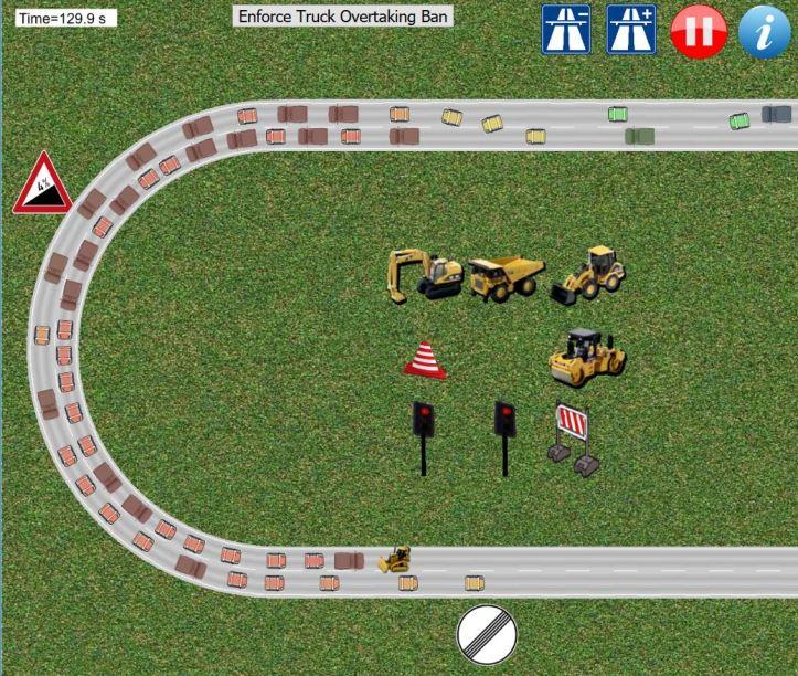 simulare - gatuire doua benzi